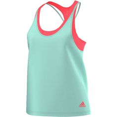 The adidas Women's Club Trend Tank is a great 2 in 1 deal! This clever design has a loose overlayer attached, but it's detachable to allow you to use the bra alone! The printed bra has an adjustable fit and removable pads, which makes it a stand alone item. Climacool fabric on both pieces, along with mesh ventilation keeps you cool during your hottest days on the court!