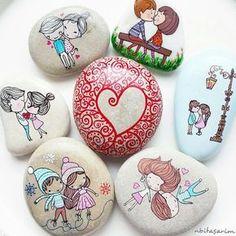 DIY Rocks Craft Ideas to Make And Sell - Stones Decoupage Tutorial Pebble Painting, Pebble Art, Stone Painting, Diy Painting, Rock Painting Ideas Easy, Rock Painting Designs, Stone Drawing, River Rock Crafts, Ladybug Rocks