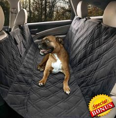 Yermo Pet Hammock Dog Car Seat Cover / Protector - Waterproof - 57'L x 55'W - Non-Slip Backing - Heavy Duty Polyester - Machine Washable - Plus FREE Bonus ** See this great product.