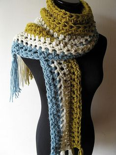 Crochet Scarf - Love the Colors!