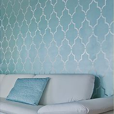 Moroccan and Indian Stencils: intricate and trendy wall stencil patterns for DIY decor! These beautiful moroccan stencil patterns are just what you need to spice up your home decor. Wall Decor, Stenciled Curtains, Stencils Wall, Home Decor, Diy Decor, Moroccan Design, Trellis Wall Stencil, Moroccan Stencil, Stencil Furniture