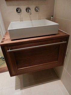 Walnut Bathroom Vanity - by Jersey @ LumberJocks.com ~ woodworking community
