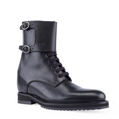 Elevator Boots - Upper in full grain leather, insole and midsole in genuine leather, cotton waxed shoe laces. Hand Made in Italy.