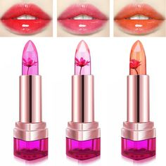 Professional Sale 2016 Fashion Magic Temperature Change Color Moisturizer Full Lips Balm Transparent Flower Jelly Baby Lips Lipstick Makeup Cleaning The Oral Cavity. Beauty Essentials Lipstick
