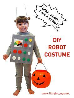 Little Hiccups: Last Minute Halloween DIY: Robot Costume