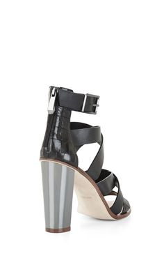 East Strappy High-Heel Day Sandal Strappy High Heels, Strappy Sandals, Chunky Heels, Crocodile, Open Toe, Personal Style, Chic, Leather, Beautiful