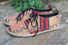 Matt Mens Oxford Shoes In Tribal Naga Textiles - Siamese Dream Design