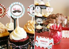 """""""Little Man"""" party...too bad I don't have a """"little man!"""" Cute idea!"""