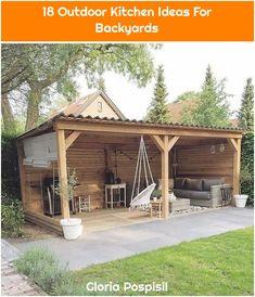 The Happiness of Having Yard Patios – Outdoor Patio Decor Small Backyard Patio, Backyard Patio Designs, Backyard Projects, Backyard Landscaping, Inexpensive Landscaping, Landscaping Ideas, Backyard Parties, Rustic Backyard, Pergola Patio