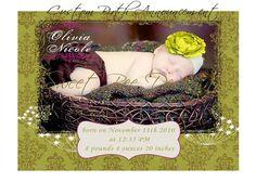 Custom Birth Announcement by SweetBeeDesignShoppe on Etsy