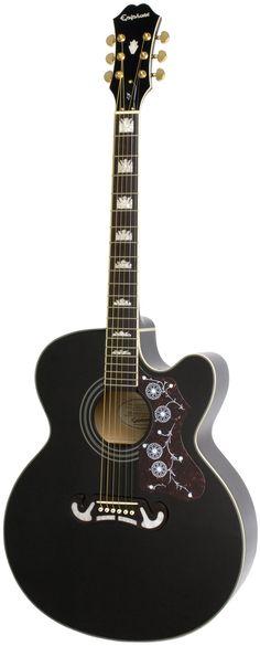 Epiphone EJ200CE Black jumbo gitaar