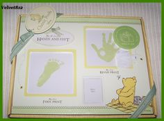 Classic Pooh Baby's first hand and foot prints