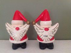 Vintage Christmas Santa Big Beards Salt Pepper Shakers by SouthHamptonLane on Etsy https://www.etsy.com/listing/474237857/vintage-christmas-santa-big-beards-salt