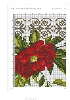 ESK.CROSSstitch: ÇİÇEKLİ KANAVİÇE SECCADE MODELİ Cross Stitch Rose, Prayer Rug, Embroidery Stitches, Needlepoint, Diy And Crafts, Knitting, Crochet, Charts, Africa