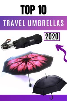 Don't settle for another boring black umbrella. Stand out from the crowd and look good in any weather! Finally, a compact umbrella for travel that looks great for photos and shelters you from the rain, the wind & the sun! UPF 50 protection keeps you cool when it is sunny and hot! Comfortable handles and the more expensive pongee fabric are more Eco-Friendly than the cheaply made polyester fabric used in most umbrellas. #spfprotection #umbrellart #umbrellaphotography #uvprotection #travelgear