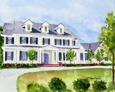 Watercolors by Laura Trevey: House Portraits by Laura Trevey