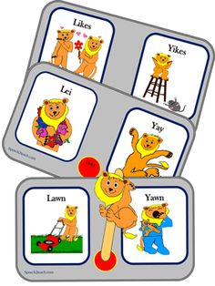 Weather you are working on auditory discrimination, phonemic awareness, or speech articulation, Listening Lions can help. This activity, based on minimal pairs /l/ and /y/, is fun, productive and sure to keep children attending. http://www.teacherspayteachers.com/Product/Listening-Lions-Listen-for-l-and-y-746566