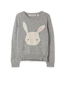 Bunny Intarsia Knit -Country road