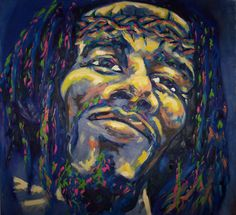 """""""Black Jesus II"""" Oil on Canvas. 2004"""