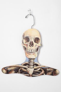 Skeleton clothes hanger by Urban Outfitters. Skull Rock, Skull Art, Skull Decor, Pet Clothes, Clothes Hanger, Animal Clothes, Skull Clothes, Rock And Roll, Grunge