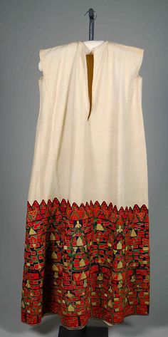 Greece, wedding tunic, silk and metallic embroidery on linen, fourth quarter 19th century