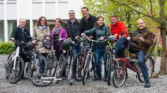 """Mitarbeiter der Landeskirche des Kantons Luzern haben dieses Jahr erstmals an der Aktion """"Bike to work"""" teilgenommen. In den Monaten Mai und Juni radelten sich die beiden Viererteams mit ins"""
