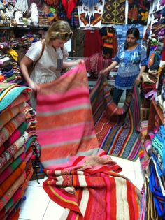Textile magic in peru.