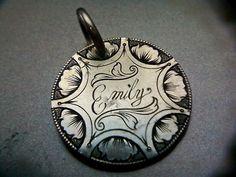 hand engraved love token