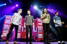The boys on stage at the Triple Ho show in San Jose last night 12/2