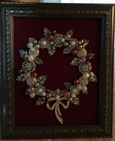 8x10 silver and red wreath. Made by B. Turchi 2014
