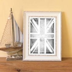 1057 CORNWALL DISTRESSED WHITE PICTURE FRAME 46MM - Trade prices,Next Day Delivery,Bulk Discount