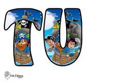 Piraci: Okrągłe litery i cyfry Dzień postaci z bajek Litery i cyfry do tworzenia napisów Piraci Postacie Lyrics