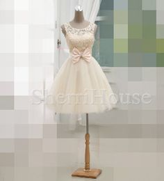 Lace Applique Sheer Straps Laceup Bowknot Short by SherriHouse, $138.00