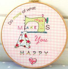 hoop art | Name: 'Sewing : Happy Hoop Art