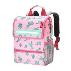 reisenthel Backpack Kids, Safety-Enhanced Design for School and Travel, Cactus Pink Cactus Backpack, Backpack Bags, Fashion Backpack, Best Luggage, Luggage Sets, Justice Accessories, Travel Accessories, Brand Name Bags, Bag Patterns To Sew
