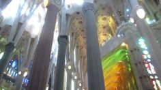 Inside the Sagrada Familia Basilica in Barcelona and Daily Ave Maria At Noon #sagradafamilia #barcelona #Spain #Espana #church #architecture #video #Gaudi #vacation #Europe #amazing #videotour