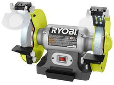 Ryobi 8 inch Bench Grinder Green for sale online Dewalt Power Tools, Ryobi Tools, Bench Grinder, Woodworking Power Tools, Electronic Recycling, Recycling Programs, Rotary Tool, Work Tools, Garage Workshop