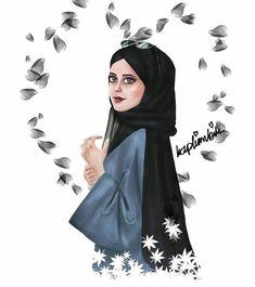 Cute Cartoon Girl, Cartoon Girl Drawing, Hijab Drawing, Girly M, Islamic Cartoon, Anime Muslim, Hijab Cartoon, Pop Art Girl, Beautiful Muslim Women