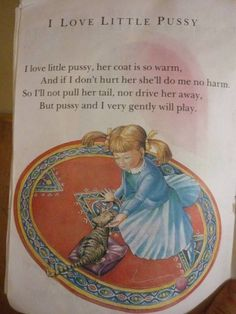 Why does nobody read the old nursery rhymes any more?