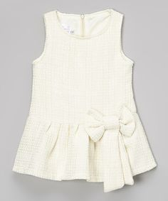 Another great find on #zulily! Ivory Wool-Blend Dress - Toddler & Girls by Blossom Couture #zulilyfinds
