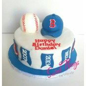 Red Sox hat and ball cake topper - sweetthingsbywendy.ca Red Sox Cake, Cake Toppers, Cupcake Cakes, Boston Red, Sweet, Desserts, Hat, Food, Candy