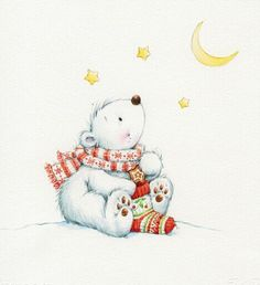 Christmas baby polar bear