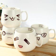 US $5.85 -- Lovely Expression cup cartoon fashion ceramic coffee mug four designs aliexpress.com