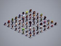 Figure Collection: 64 statues to build in your world Minecraft Logic, Minecraft City, Minecraft Plans, Minecraft Survival, Minecraft Construction, Minecraft Tutorial, Minecraft Blueprints, Minecraft Crafts, Figurine Minecraft