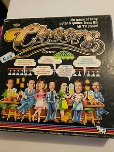 35 Cheers Tokens, still on cardboard. Board is included, but is torn in half as shown in pictures! 2 Full sets of cards, 1 still sealed, with card holder. All 7 character cards. The Godfather Game, Cheers Tv Show, Cheers Theme, Cheer Games, Cheer Quotes, Know Your Name, Tv Show Quotes, Quotes And Notes, Game Pieces
