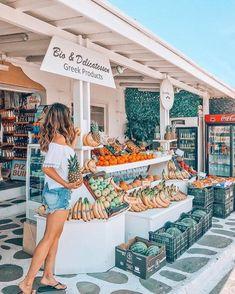 Mykonos Paradise at Cyclades Islands , Greece Yummy Drinks, Yummy Food, Mykonos Town, Santorini, Food Facts, Stand Tall, Greek Islands, Greek Yogurt, Food Pictures