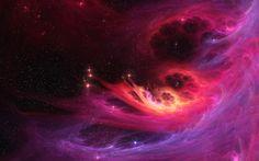Full HD Wallpaper - Nebulae, Red, Space, Stars