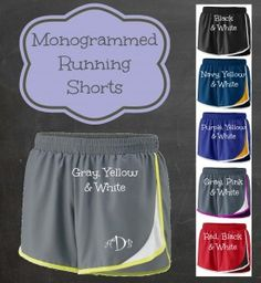 Monogrammed Adrenaline Shorts for Ladies and Youth <3