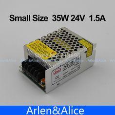 35W 24V 1.5A 100V-240V INPUT  Small Volume Single Output Switching power supply for LED Strip light