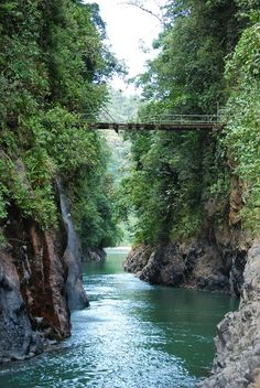 Crossing the old footbridge at Pacuare River,Costa Rica, one would have to be a thrill seeker ...